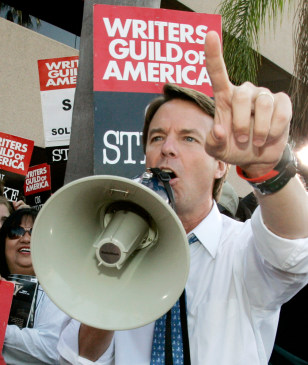 Image: John Edwards, writers strike