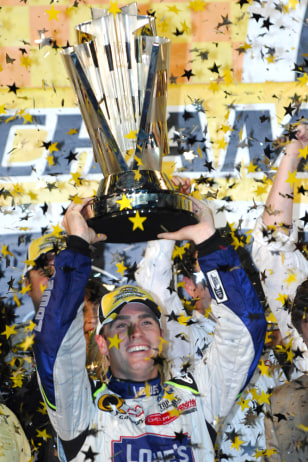 Image: Jimmie Johnson celebrates