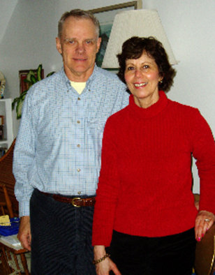 Image: Retired couple: Richard Booth and Elizabeth Brinckerhoff