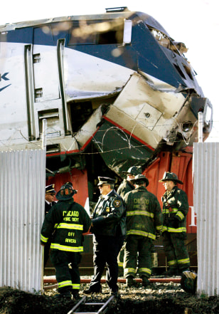Image: Amtrak and train accident