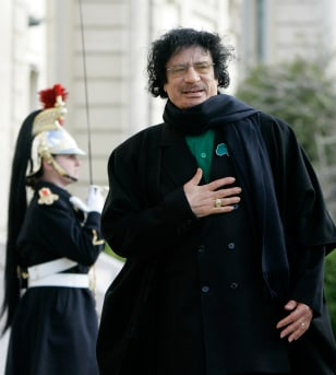 Image: Libyan leader Gadhafi