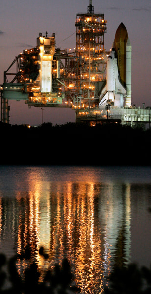 Image: Space shuttle Atlantis on Launch Pad 39A