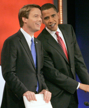 Image: John Edwards, Barack Obama