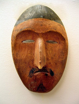 Image: King Island Shaman's Mask at the Carrie M. McLain Memorial Museum