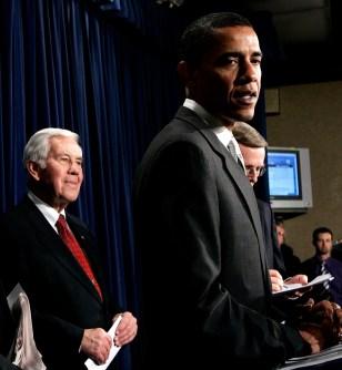 Image: Sen. Richard Lugar, Sen. Barack Obama