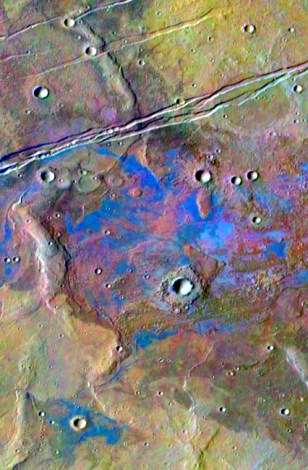 Image: Salt deposits on Mars