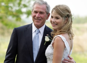 Image: George W. Bush and daughter Jenna Bush
