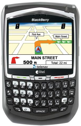 Image: TeleNav GPS navigation on cell phone