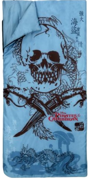 "Image: Disney ""Pirates of the Caribbean"" sleeiping bag"