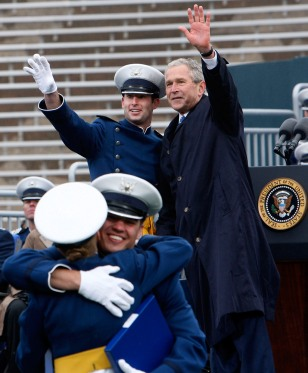 Image: President Bush at Air Force Academy graduation