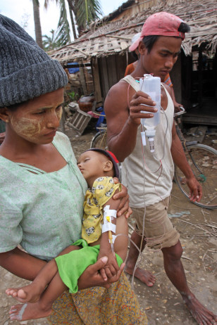 Image: Sick Myanmar child