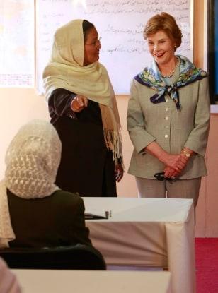 Image: Laura Bush, Habiba Sarabi