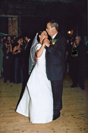 The author and her dad, Jack, at her wedding in 1999