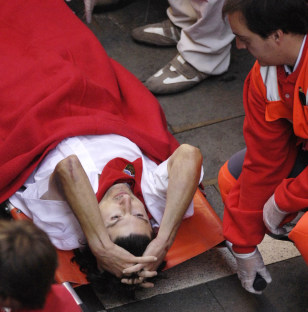 Image: Man on stretcher