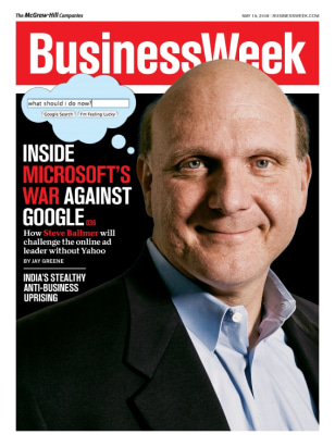 Image: Steve Ballmer on BusinessWeek cover