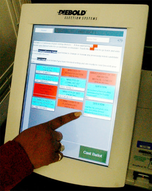 Image: Electronic voting machine