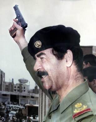 PHOTO OF SADDAM HUSSEIN WHICH IS BEING EXHIBITED AT LEADERS MUSEUM IN BAGHDAD
