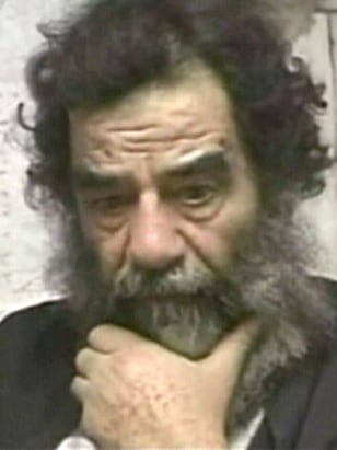 IMAGE: Saddam Hussein in custody