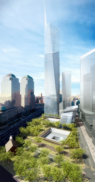 Image: Artist's rendering of World Trade Center memorial
