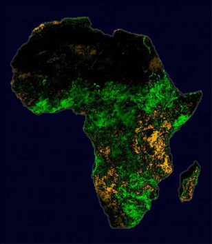 Image: Satellite view of Africa