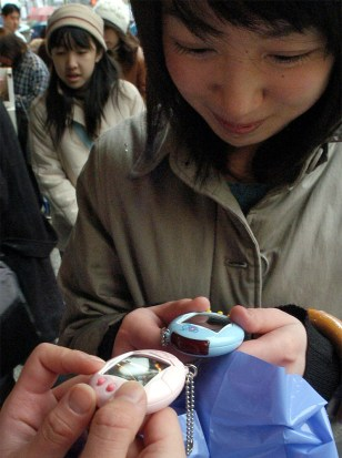 Girl tests ability of virtual pet to communicate with another
