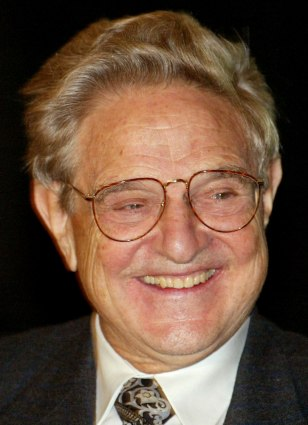 INTERNATIONAL FINANCIER GEORGE SOROS SMILES DURING HARVARD RUSSIAN SYMPOSIUM
