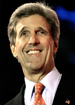 JOHN KERRY SMILES DURING BEVERLY HILLS FUNDRAISER