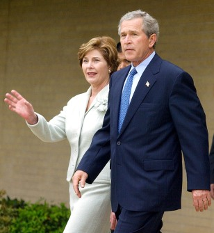 Bush Attends Easter Service In Texas