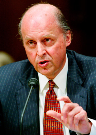 FILE PHOTO OF UN AMBASSADOR JOHN NEGROPONTE AT SENATE CONFIRMATION HEARING
