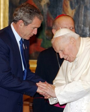 BUSH POPE JOHN PAUL II