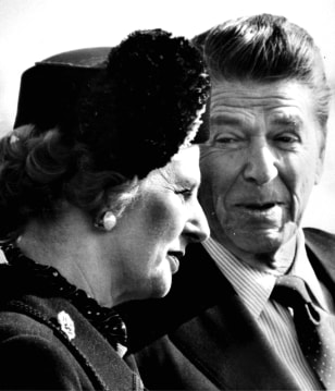 RONALD REAGAN MARGARET THATCHER