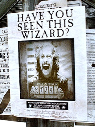 """Wanted"" poster from ""Prisoner of Azkaban"""