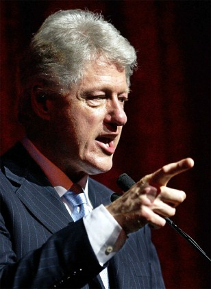BILL CLINTON SPEAKS AT THE APOLLO THEATER IN NEW YORK