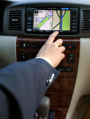 Image: Built-in navigation system