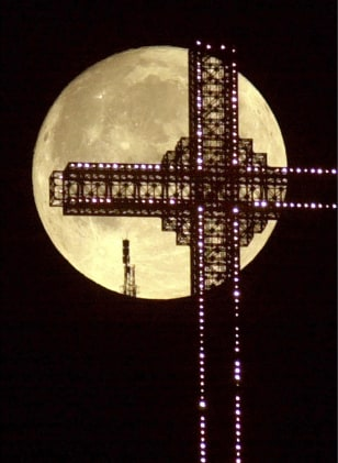 Image: Moon and cross