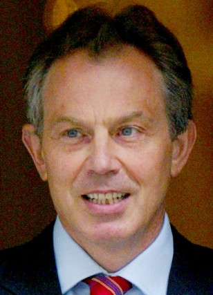 BRITAIN'S PRIME MINISTER BLAIR LEAVES DOWNING STREET IN LONDON