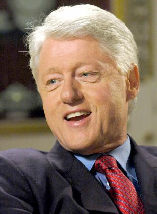 Former U.S. President Clinton