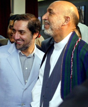 Image: Afghan President Hamid Karzai, right.