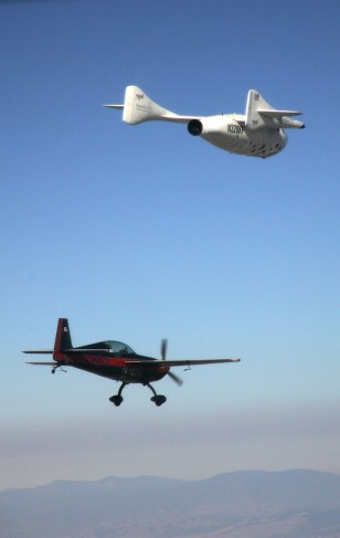 Image: SpaceShipOne and chase plane