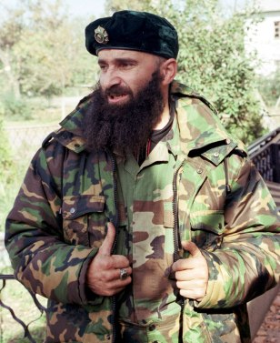 Image: Chechen rebel leader Shamil Basayev.