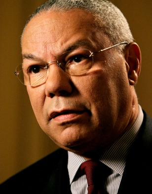 IMAGE: U.S. Secretary of State Colin Powell is interviewed at the State Department