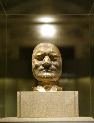 Isaac Newton's death mask