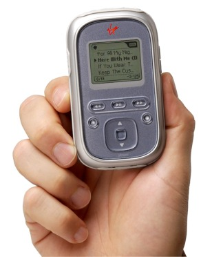 Virgin portable music player