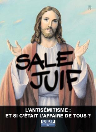 IMAGE: FRANCE ANTISEMITISM AD