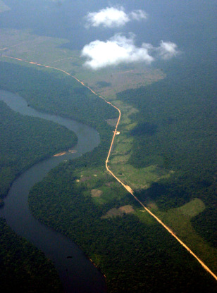 IMAGE: DEFORESTED AREAS IN AMAZON