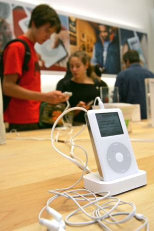 iPods at Apple Store