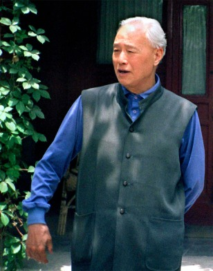 File photo of purged Communist Party chief Zhao Ziyang posing in his home in Beijing