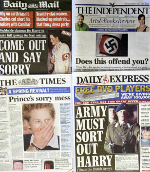 MONTAGE OF NATIONAL NEWSPAPERS