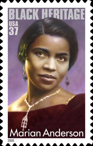 The U.S. Postal Service release of the Marian Anderson stamp
