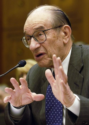 Alan Greenspan Presents Fed Report On Monetary Policy